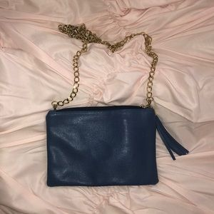 italian leather bag with gold chain